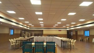 LED Panel Lights Installed at a Hospital Conference Hall